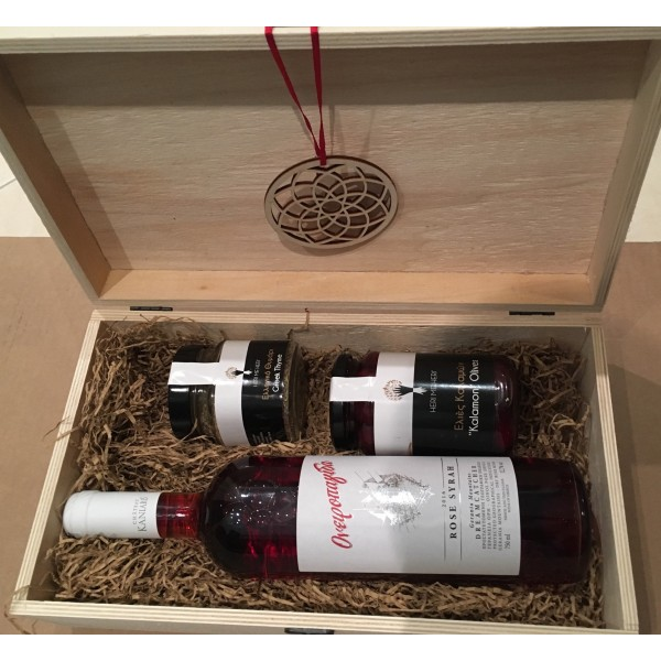 Festive Collection - Gift box with wine and herbs