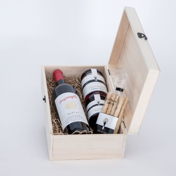Premium Collection - Gift Box with Wine, Herbs and Breadsticks