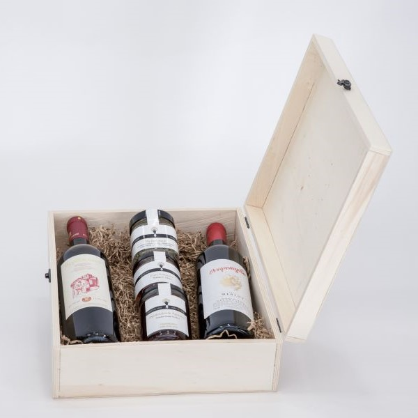 Premium Collection - Gift box with wine and truffles
