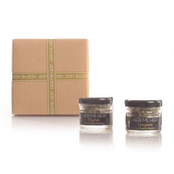 Classic Collection - Gift box with a selection of 4 herbs, honey, olives