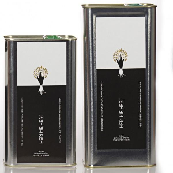 Extra Virgin Olive Oil of Koroneiki Variety (3000ml-5000ml tins)